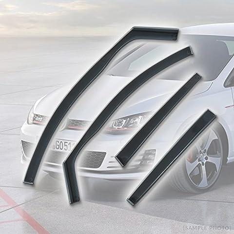 VW Golf Mk7 Full Set (2012 onwards 4DR REARS) Wind Deflectors Rain Wind Window Deflectors