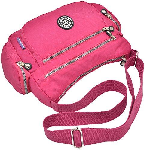 Supa Moden–Borsa a tracolla a tracolla leggero utile Daily PAC Large Handle borsa, donna, Charm Cube