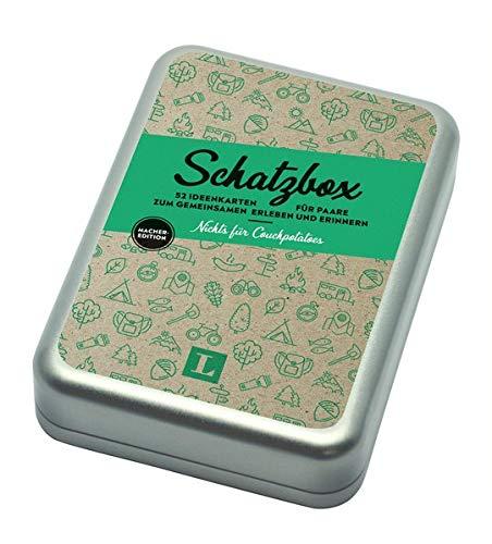 Schatzbox - Nichts für Couchpotatoes - Geschenkbox Macher-Edition: 52 Ideenkarten für Paare zum gemeinsamen Erleben und Erinnern (Langenscheidt Schatzboxen)