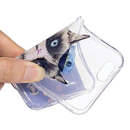 iPhone 6 4.7 Hülle, Voguecase Silikon Schutzhülle / Case / Cover / Hülle / TPU Gel Skin für Apple iPhone 6/6S 4.7(Rohr Katze 01) + Gratis Universal Eingabestift Rohr Katze 01