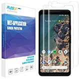 #2: Google Pixel 2 XL Screen Protector, [2-Pack] PLESON [Case Friendly] Pixel 2 XL Screen Protector [Full Coverage][No Lifted Edges] Wet Applied HD Clear film Screen Protector for Pixel 2 XL 2017