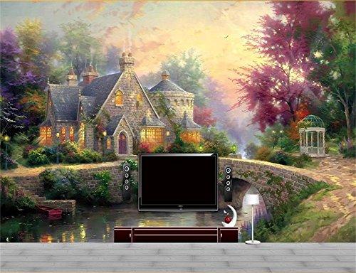 Yosot 3D Tapeten Individuelle Fototapete Wohnzimmer Wandbild 3D Thomas Landschaft Öl Malerei Sofa Tv Hintergrundbild Für 3D-Wand-300Cmx210Cm -