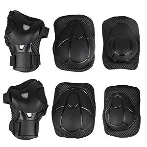 517yAqbQX1L. SS300 Andux zone 6pcs bambini gioventù protettiva Gear set ginocchiere, gomitiere, supporto per il polso per pattinaggio BMX…