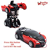 #3: Wembley Toys Friction Family TRANSFORMER Toy Racing Car - Manually convert from Car to Robot
