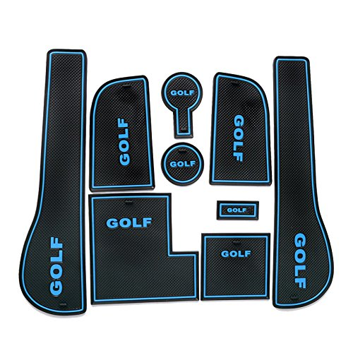 LFOTPP Golf 7 R GTD GTI GTE Auto Styling Innentür Gummimatten Anti Rutsch Matten (Blue)
