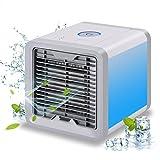Mini Luftkühler Mobile Klimageräte mit Wasserkühlung Ventilator Fan Zimmer Raumentfeuchter Mini Klimaanlage ohne Abluftschlauch für Wohnung