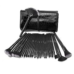 Idea Regalo - Pennelli Make Up USpicy Kit 32 pezzi Pennelli Cosmetici Trucco spazzola professionale. Brushs per Ombretto, Alta Qualità, Make Up Set con borsetta da viaggio, Regalo
