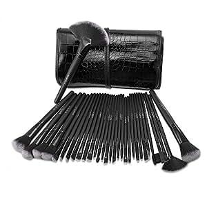Pennelli Make Up USpicy Kit 32 pezzi Pennelli Cosmetici Trucco spazzola professionale. Brushs per Ombretto, Alta Qualità, Make Up Set con borsetta da viaggio, Regalo