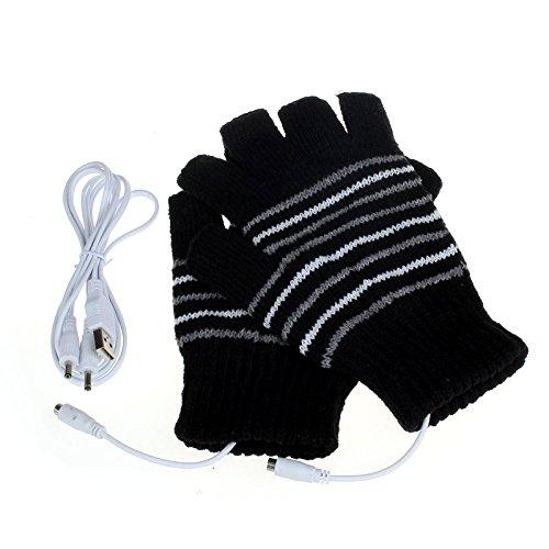 S beheizt batteriebetrieben Winter Thermo Elektrisch beheizbare Handschuhe Gr Camping & Outdoor