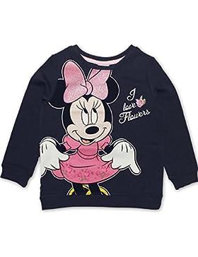 DISNEY Mädchen Minnie Mouse Sweatshirt, dunkelblau