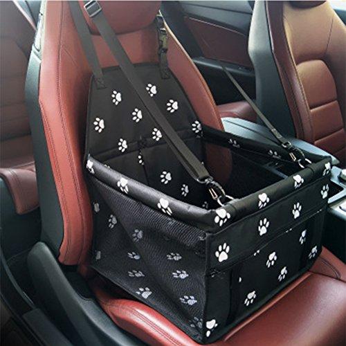 YAOBAO Folding Pet Booster Falttier Haustier Autositze Katze Auto Reise Safety Seat Pet Tragetasche Tragbare Sicherheitsleine,Black (Pet-booster Träger)
