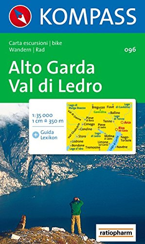 Carta escursionistica n. 96. Lago di Garda. Alto Garda, Val di Ledro 1:35000