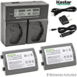 Kastar LCD Dual Smart Fast Battery Chargers With Batteries (Pack Of 2) For Nikon EN-EL18