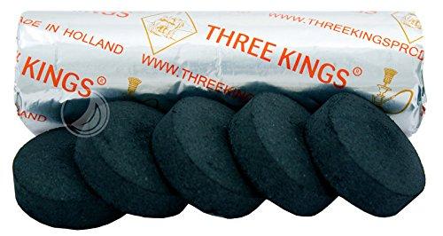 three-kings-carbon-pour-chicha-diametre-40-mm-rouleau-de-10-charbons