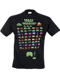 Space Invaders Men's Multi Invasion Regular Fit Short Sleeve T-Shirt