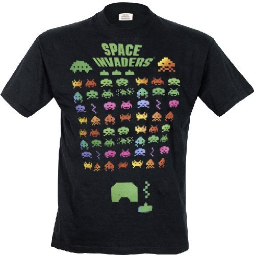 Space Invaders Men's Multi Invasion T-shirt - S to XXL