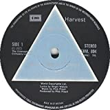 PINK FLOYD, Dark side of the moon. First UK pressing SOLID BLUE TRIANGLE. With two stickers and two posters. UK 1973. Matrix stamp. A2, B-2. EMI.