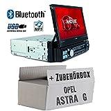 Opel Astra G - Autoradio Radio Caliber RMD574BT - Bluetooth | MP3 | USB | SD | 7' TFT - Einbauzubehör - Einbauset