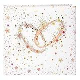 Goldbuch Gästebuch mit Lesezeichen, Crystal Romance, 25 x 23,5 cm, 176 chamoisfarbene Blankoseiten Schreibpapier, Kunstdruck mit Goldprägung und Relief, Weiß, 50345
