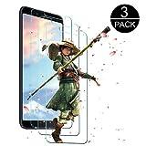 Xiaomi Mi 6X Panzerglas Schutzfolie [3 Stück],UPGOO Xiaomi Mi 6X Panzerglas Displayschutzfolie, Anti-Kratzen/Keine Bläschen /3D Touch /Ultra Transparenz (Schwarz)