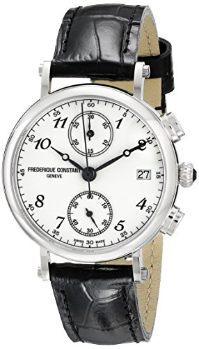 Frederique Constant Classics FC291A2R6 34mm Stainless Steel Case Black Calfskin Anti-Reflective Sapphire Men's Watch