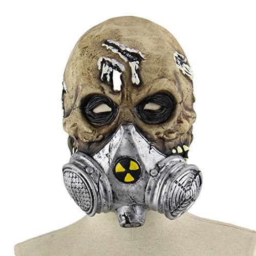 YAHUA Latex Maske Horror Maske für Halloween Cosplay (Partei Ideen Karneval Thema)