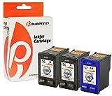Bubprint 3 Druckerpatronen kompatibel für HP 56 57 für Deskjet 5150 5550 5650 Officejet 4215 5510 Photosmart 7260 7660 7760 7960 PSC 1210 1215 1315