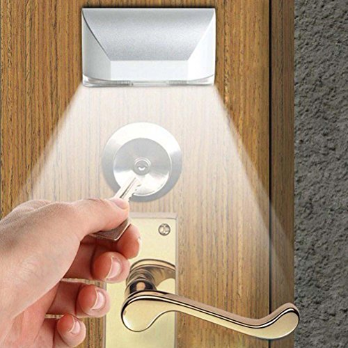 LEDMOMO Keyhole Licht Lampe, IR Wireless Auto Sensor Bewegungsmelder Tür Schlüsselloch 4 LED Licht Lampe (Handschuhfach Tür)