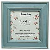 Hampton cornici Paloma Cornice portafoto, Legno, Azzurro, 14.5 x 14.5 x 2.5 cm, blue