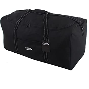 Extra Large 34 Inch Travel Sports Weekend Business Big Carry Cargo Holdall  Luggage Bag (Black) 3197794200