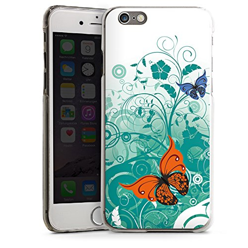 Apple iPhone 5 Housse Étui Silicone Coque Protection Papillon Fleur Fleur CasDur transparent
