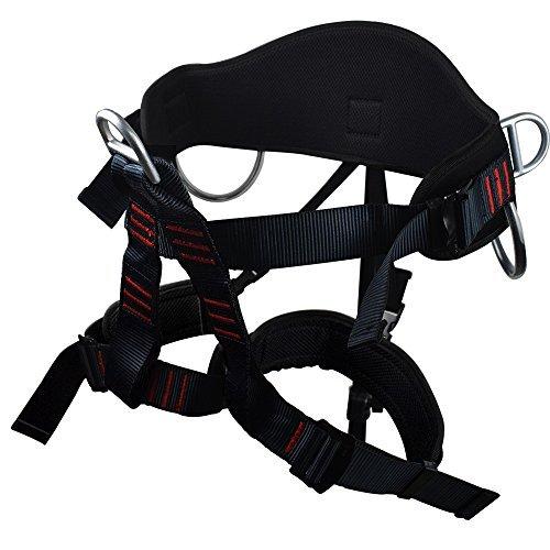 Newdoar Thicken breitere KletterGurt Frauen Mann halb Körper sichere SicherheitsGurte für Bergsteiger Klettern (Für Klettergurt Männer)