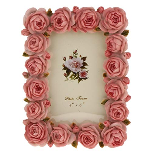 Zclleiyi Marcos Fotos Vintage Rosa Resina Rosa Flor