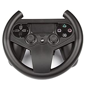 Link-e ® – Lenkrad Racing Wheel Für Gamepad, Wireless Controller Auf Der Sony PS4 Playstation 4 Konsole (The Crew, Dirt Rally, WRC, Drive Club, Project Cars, Need For Speed…)