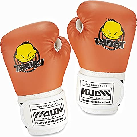 Kids Boxing Gloves, GIM Children Cartoon 4 OZ Sparring Gloves Junior Punch Bag Gel Boxing Kickboxing Training Gloves Mitt Thai Grappling Pad