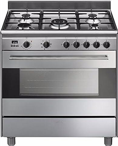 Smeg BG91X9 Autonome 126L A Acier inoxydable four et cuisinière