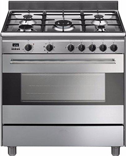 Smeg BG91X9 Cuisinière Cuisinière à gaz A Acier inoxydable four et cuisinière - Fours et cuisinières (Cuisinière, Acier inoxydable, boutons, Rotatif, En haut devant, Électronique, Cuisinière à gaz)