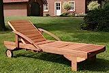 Hecht Sonnenliege - ERA -, Gartenliege, Holzliege, Liege aus Meranti Holz - 2