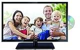 Lenco DVL-2462BK 24 Zoll LED-Fernseher (60 cm) mit DVD-Player und DVB-T2 HD, Triple-Tuner und 12 Volt Kfz-Adapter (Full HD (1.920 x 1.080), HDMI, USB, SCART, CI+), Schwarz