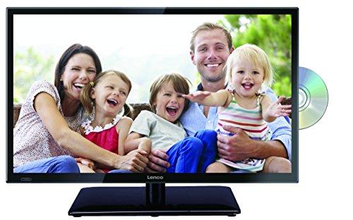 Lenco DVL-2462 23,5 Zoll (60cm) LED-Fernseher mit DVD-Player - Triple-Tuner (DVB-T/T2/S2/C) - 12 Volt Kfz-Adapter - Mit HDMI, USB SCART und Cl+ Anschluss - Fernbedienung - Schwarz