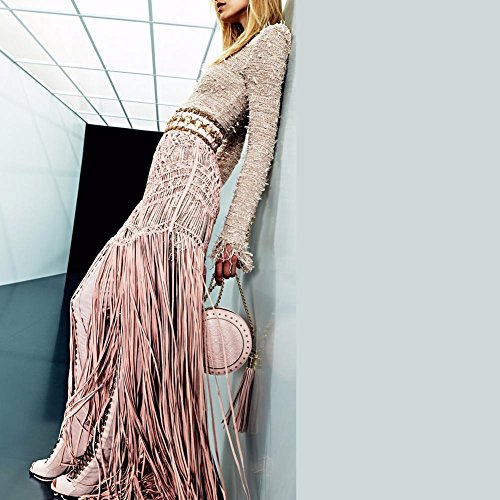 L@YC Stivali da donna Fashion Winter denim Party & Stiletto Tie Heel/Black Champagne