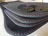 styling-4youcar Fußmatten (E90 E91) Doppelnaht Rot- Blau Original Qualität Velours Autommatten +4 Klett