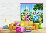 AG Design Gardine/Vorhang FCS XL 4319 Kinderzimmer Disney Princess Prinzessin