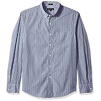 J.Crew Mercantile Men's Slim-Fit Long-Sleeve Striped Shirt, harbor view, XL