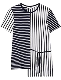 FIND Camiseta Asimétrica de Rayas para Mujer