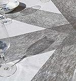 AmaCasa Vlies Tischband Tischläufer Flower Vlies Hochzeit Kommunion 23cm/25m Rolle (Silber, Vlies) - 6