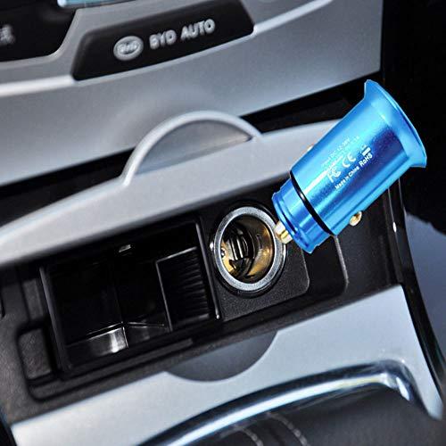 Dingchangmaoyia Auto-Ladegerät, Mini Auto-Ladegerät Dual USB Für iPhone X / 8/8 Plus / 7 Schnell Esladen, Ipad Air/Pro, Samsung, HTC, LG, Etc,Blue 510 Mp3