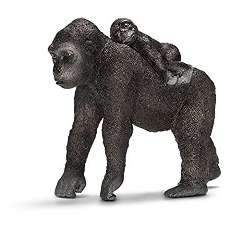 Schleich Gorilla with Baby Figure (Female)