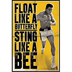 Posters con frases de motivación de Muhammad Ali. Un boxeador de leyenda para tu habitación.