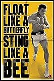 1art1 43384 Muhammad Ali - Float Like A Butterfly Poster (91 x 61 cm)